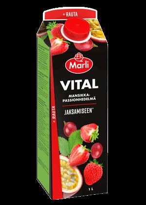 Marli Vital Mansikka-passionhedelmä + rauta 1 L