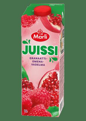 Marli Juissi Granaattiomena-vadelmamehujuoma 1L