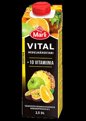 Marli Vital Hedelmänektari + 10 vitamiinia 2,5 dl