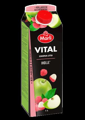 Marli Vital Omena-litsi + kollageeni & C-vitamiini mehujuoma 1 L